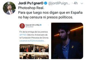 El tuit rectificado por el consejero Puigneró