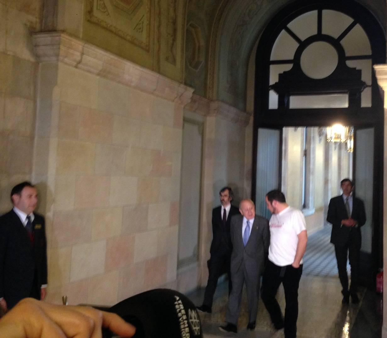 Jordi Pujol i David Fernàndez, al Parlament