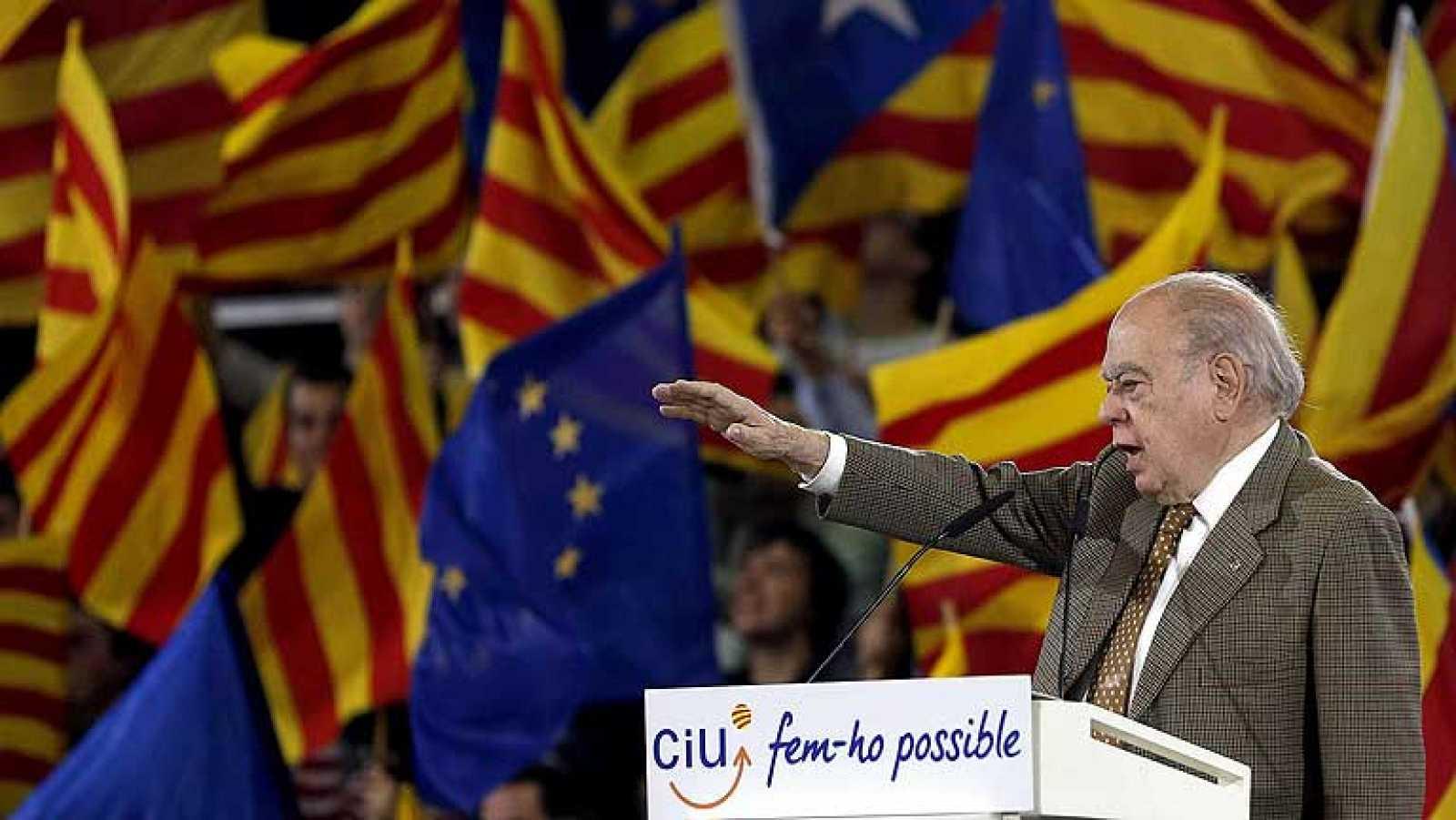 Jordi Pujol, en un acto electoral en 2012