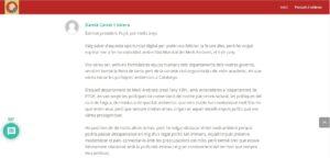 Felicitación de Damià Calvet a Jordi Pujol por su nonagésimo aniversar