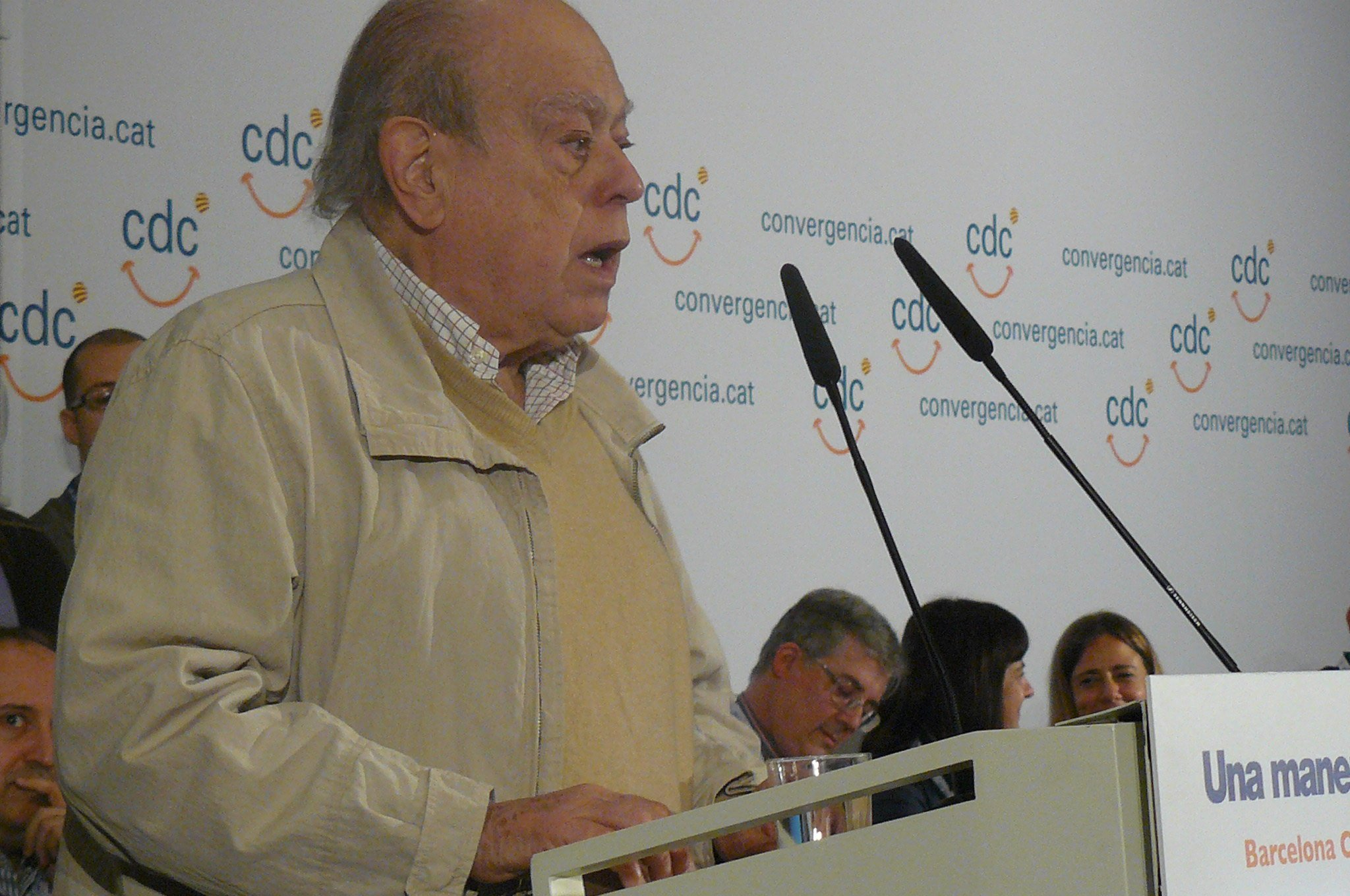 Jordi Pujol, en un acto de Convergència, en 2012