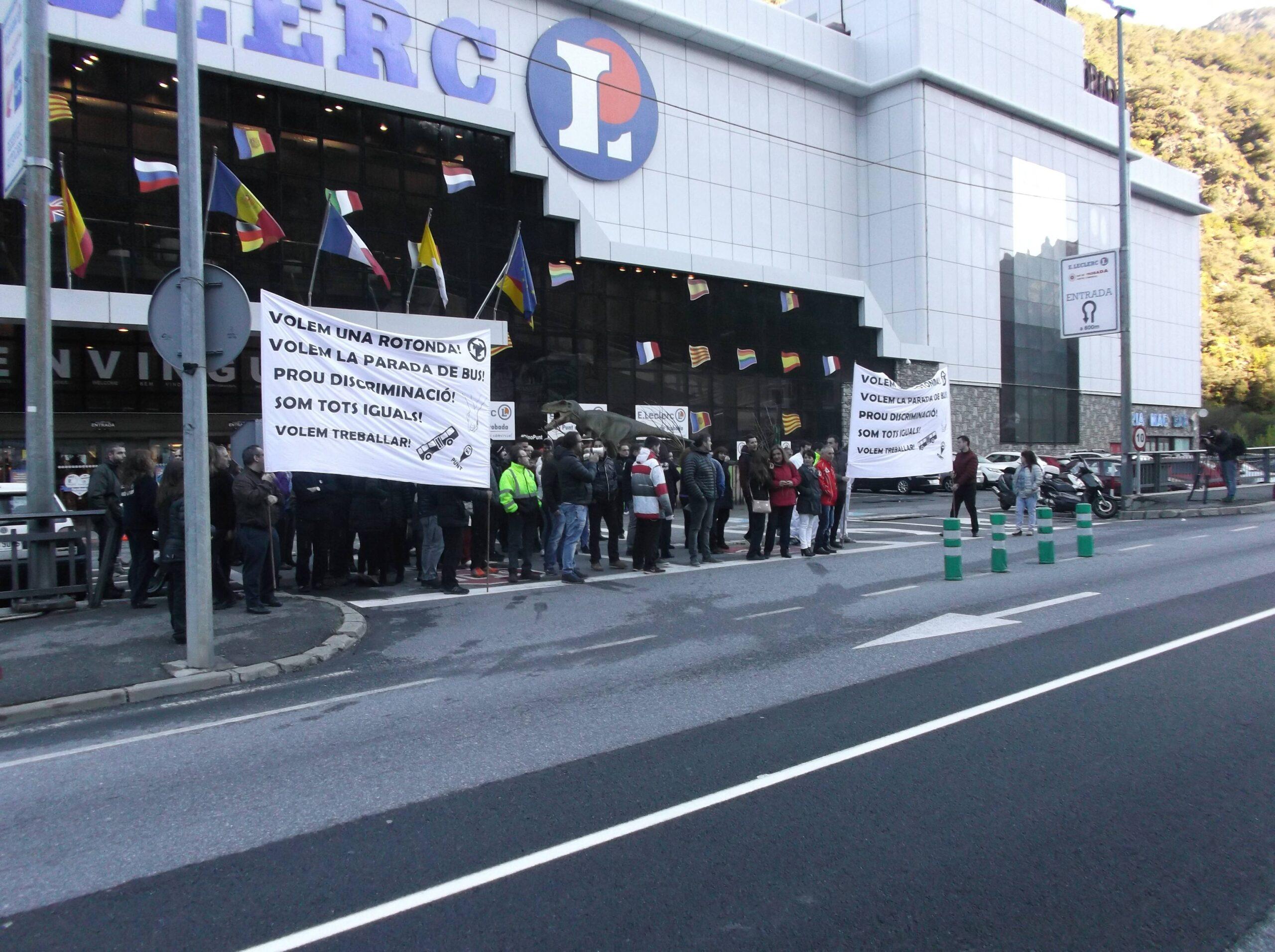 Concentració treballadors Punt de Trobada a Andorra