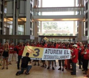 Protesta TV3 PWC