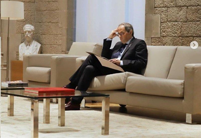 Quim Torra en el Palau de la Generalitat