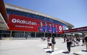 Publicitat de Rakuten al Camp Nou