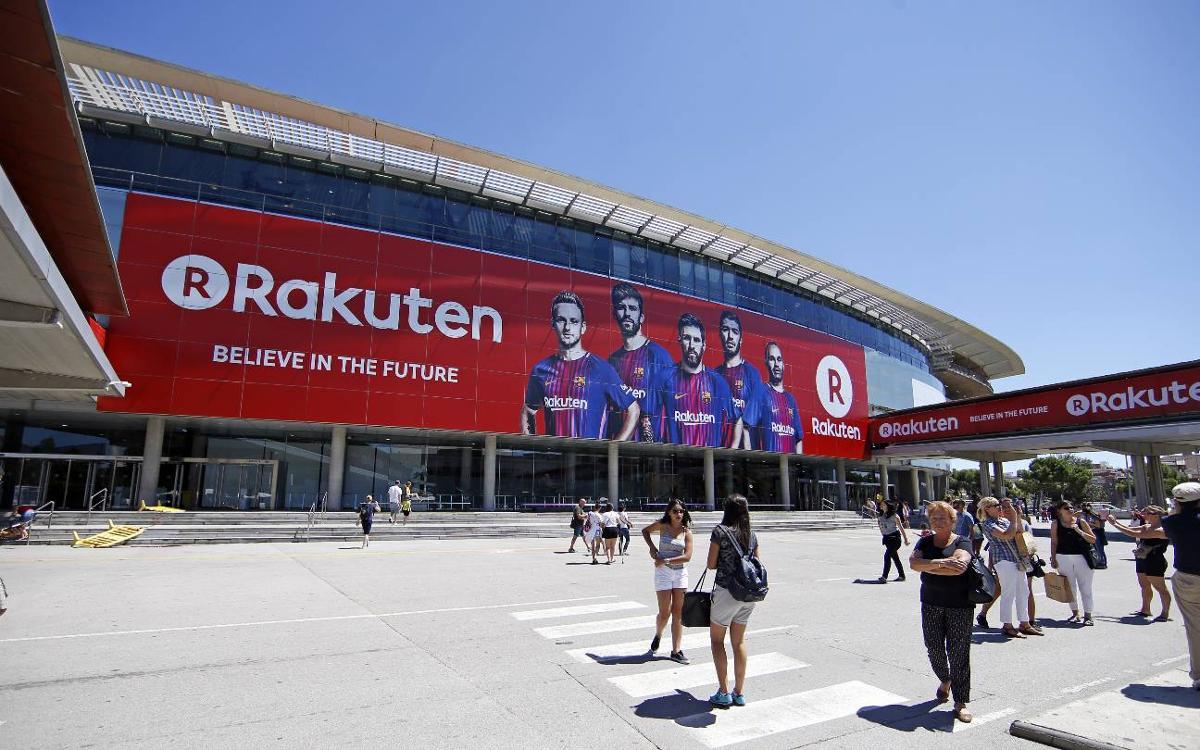 Publicidad de Rakuten en el Camp Nou