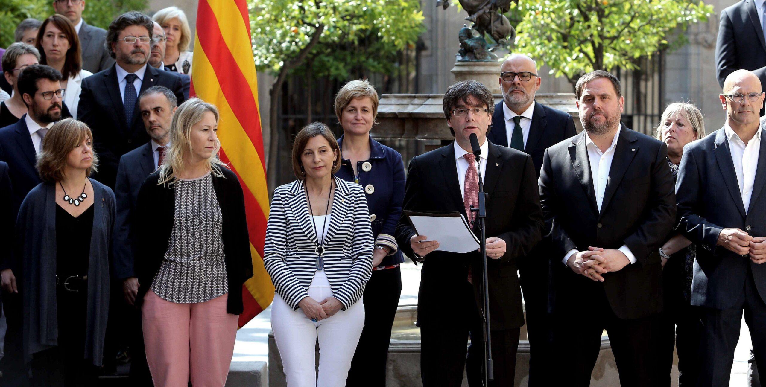 Forcadell, Puigdemont i Junqueras