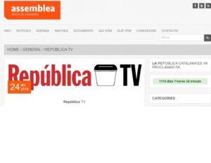 Promoció de República TV al web de l'ANC de la Dreta de l'Eixample a