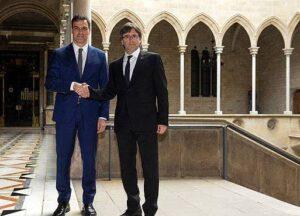 Pedro Sánchez y Carles Puigdemont (Imagen de archivo)