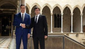 Pedro Sánchez i Carles Puigdemont (Imatge d'arxiu)