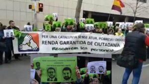 Protesta contra la denegació de prestacions de la RGC per part del Go
