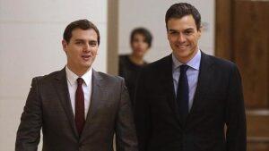 Albert Rivera con Pedro Sánchez