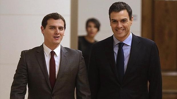 Albert Rivera amb Pedro Sánchez