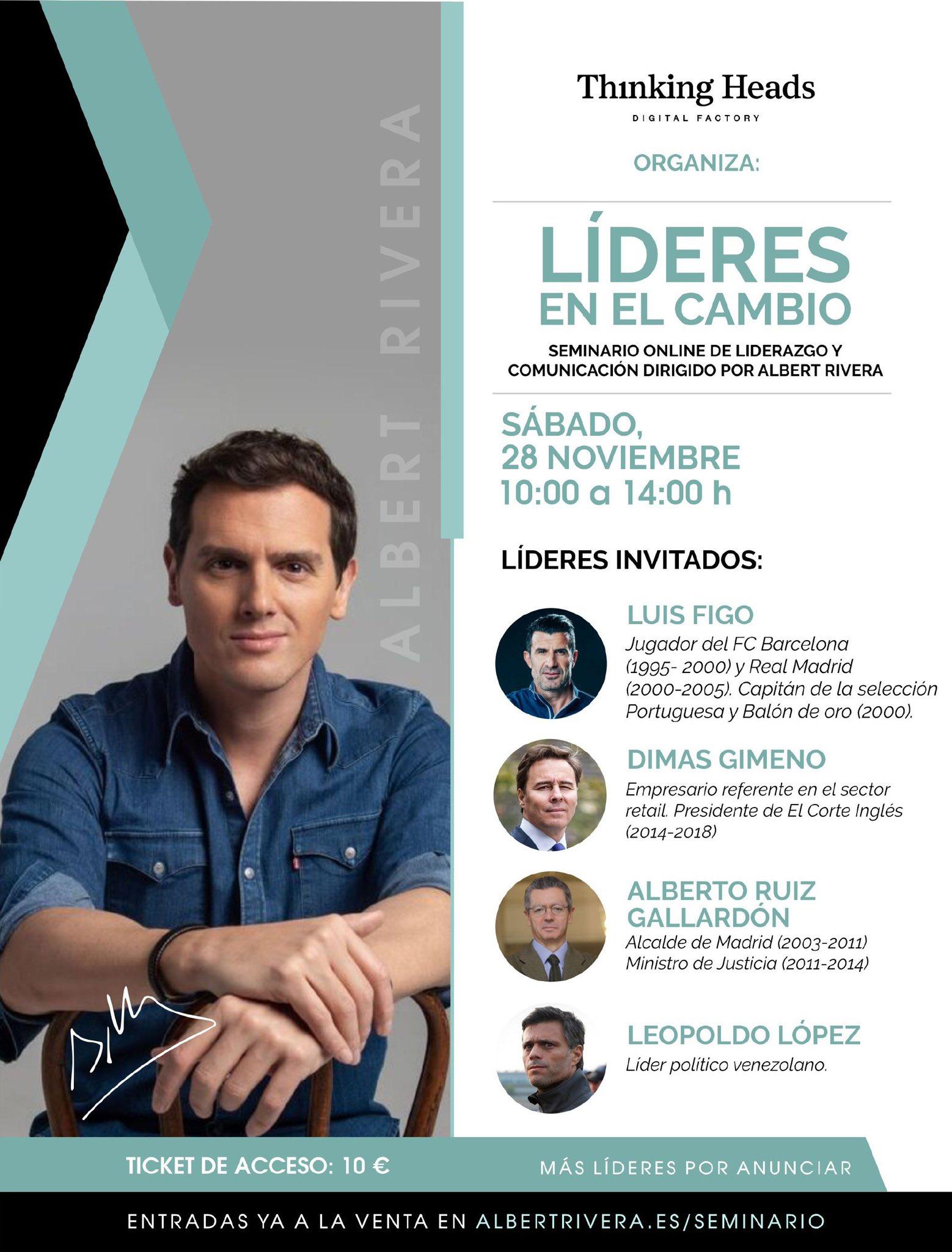 Seminari sobre lideratge d'Albert Rivera