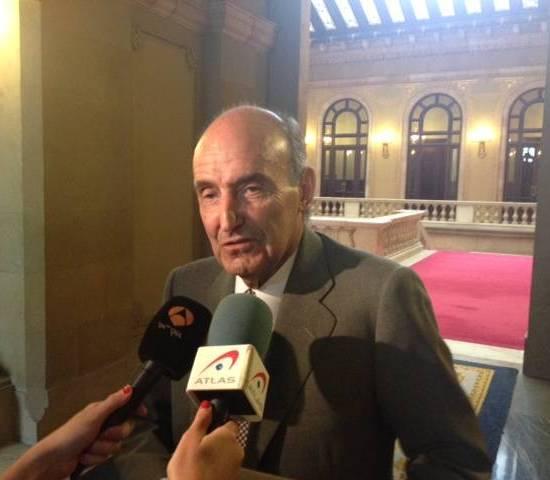 Miquel Roca, aquest dimarts al Parlament