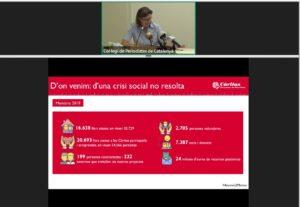 Roda de premsa virtual de Càritas Barcelona