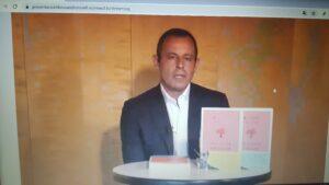 Sandro Rosell, en la presentación de su libro 'Un fuerte abrazo'