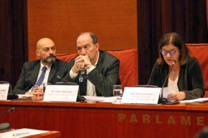 Saül Gordillo, Vicent Sanchis i Núria Llorach, al Parlament