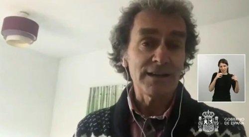 Fernando Simón, respondiendo desde casa