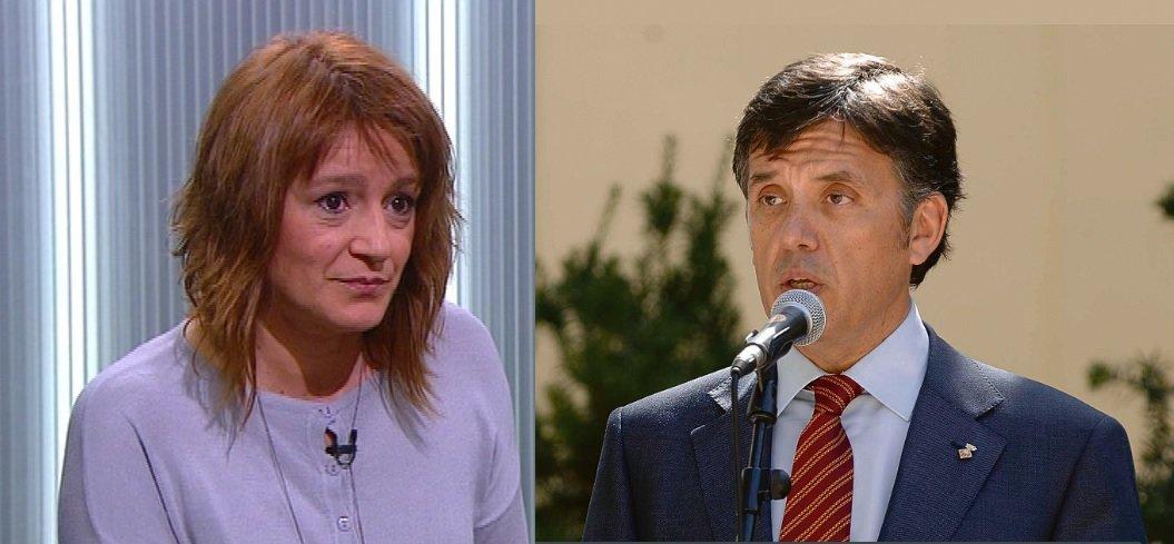 Laia Bonet (esquerra) i Lluís Recoder, dos polítics passats per aigu