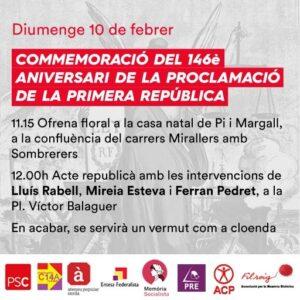 Targetó de l'acte de record de la Primera República espanyola