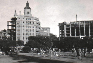 La seu històrica de Telefónica, al carrer Fontanella