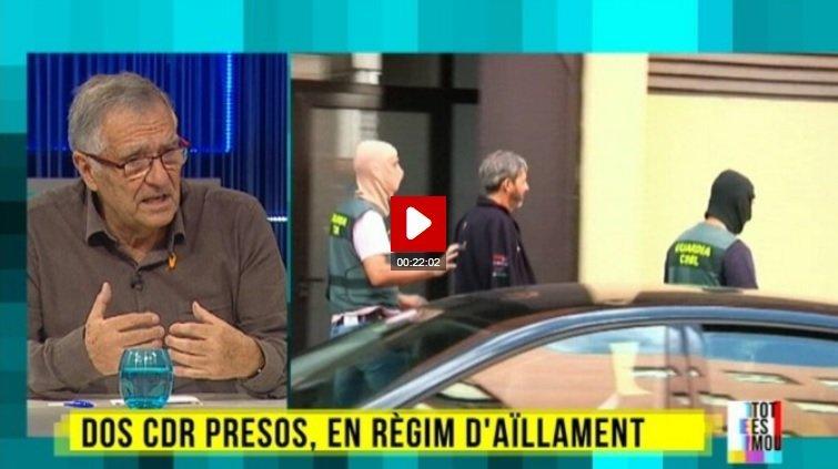 Entrevista al 'Tot es mou' al tiet d'un CDR detingut el 23 de setembre