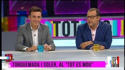 Bernat Soler, exjefe de Deportes de TV3, y Ricard Torquemada, periodis