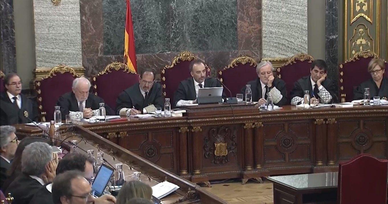Manuel Marchena, durante la declaración de la funcionaria judicial