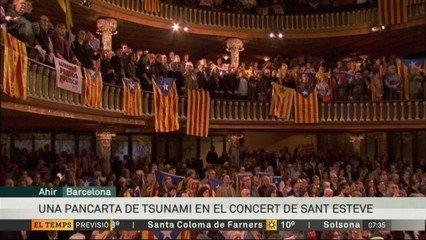 Imatge de la transmissió de TV3 del concert de sant Esteve al Palau d