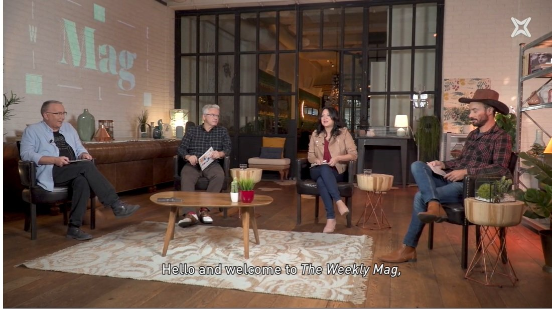 Mathew Tree, Màrius Serra, Marcela Topor y el reportero Humberto al 'T