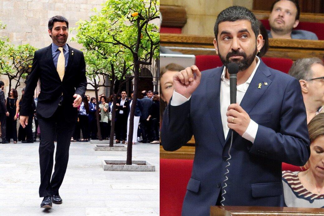 Els consellers Jordi Puigneró i Chakir el Homrani