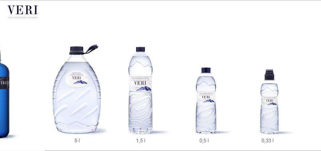 Botellas de 'Aguas de Veri'