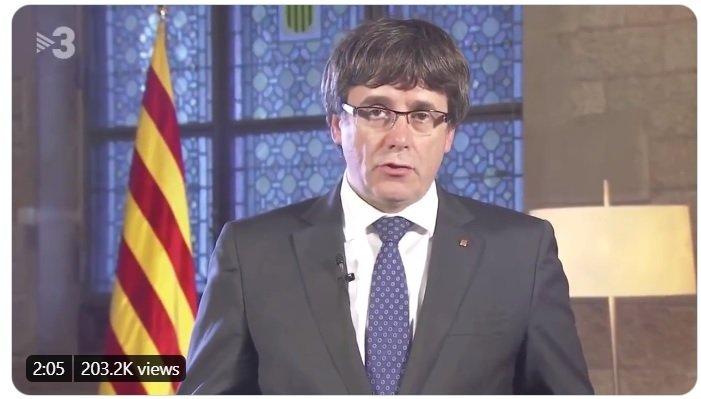 Imatge del vídeo de Carles Puigdemont