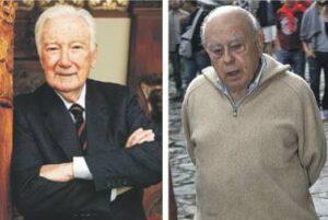 Antoni Vila Casas, a l'esquerra, i Jordi Pujol.