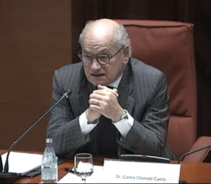 Carles VIlarrubí a la comissió Pujol