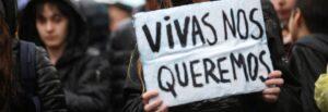 Manifestació contra la violència de gènere