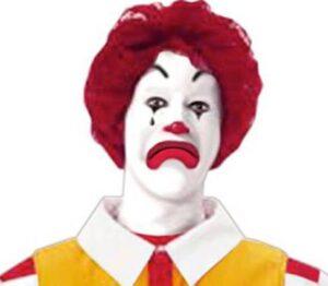 Pallasso McDonald's trist