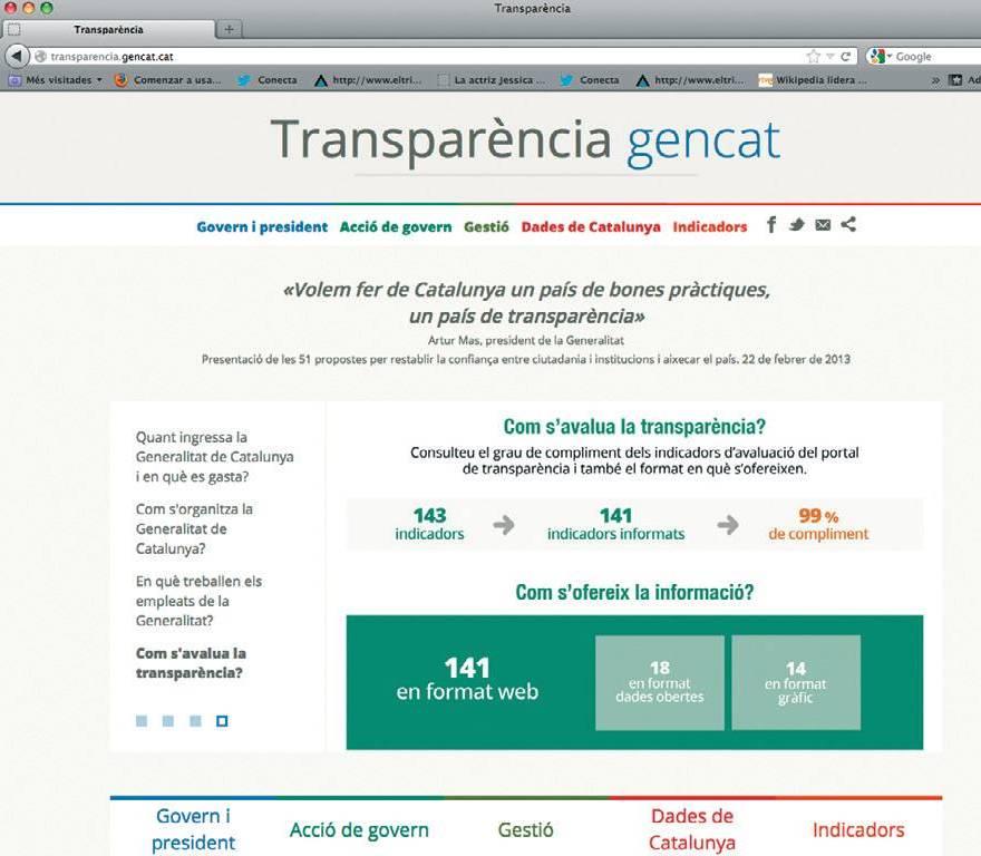 Web transparència