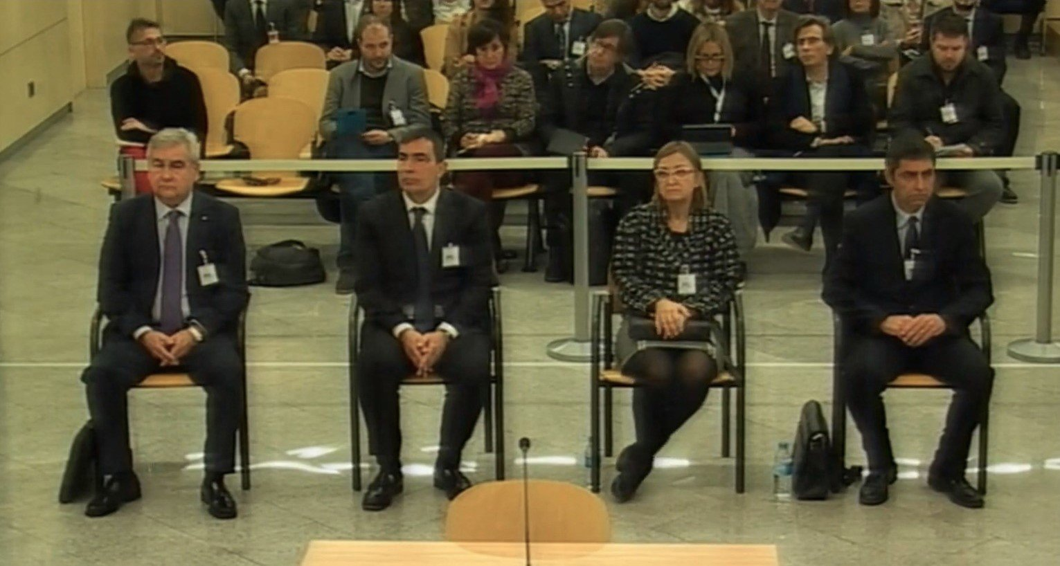 al Major dels Mossos, Josep Lluís Trapero, a la seu e l'Audiència Na