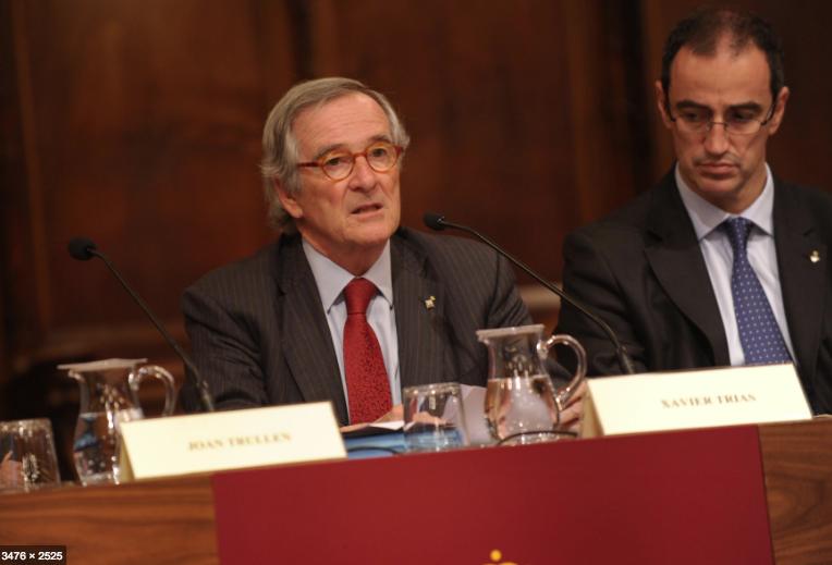 Xavier Trias i Antoni Vives, en un acte públic quan eren al govern de