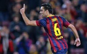 Xavi, cuando era futbolista del Barça
