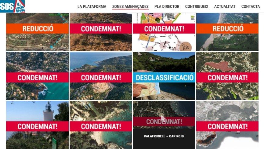 Estudio de Sos Costa Brava de las zonas afectadas por el nuevo Plan Director