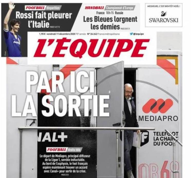 Robles, en la portada de 'L'Equipe'
