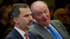 Felip VI amb Joan Carles I