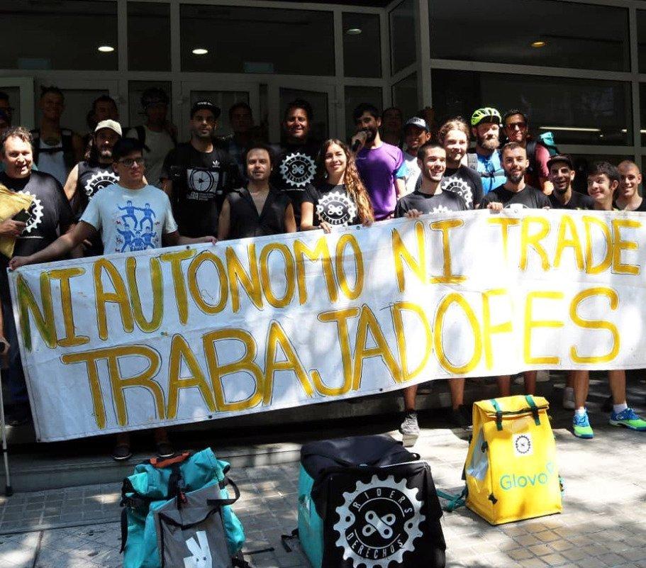 Protesta de 'riders'