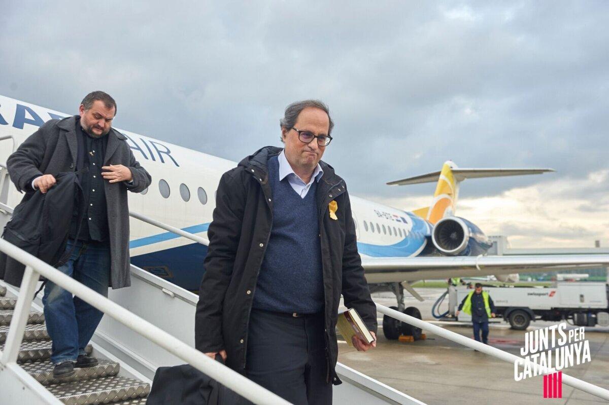 El expresidente catalán Quim Torra, en un viaje con Josep Sort
