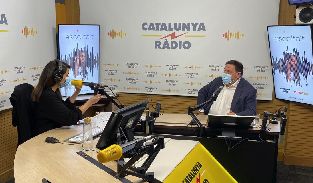 Junqueras, en Catalunya Ràdio