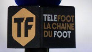Micròfon de l'emissora de televisió Téléfoot
