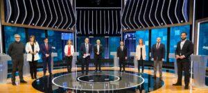 Los candidatos, en el debate de RTVE